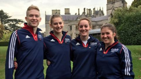 Left to right - Lewis Bartlett, Bryony Page, Kat Driscoll and Pamela Clark.