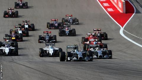 US Grand Prix start
