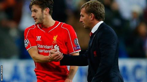 Adam Lallana and Brendan Rodgers