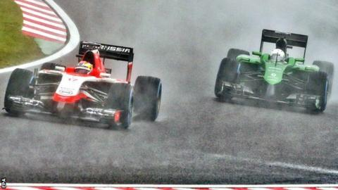 Marussia and Caterham at the Japanese Grand Prix
