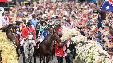 Araldo at the Melbourne Cup