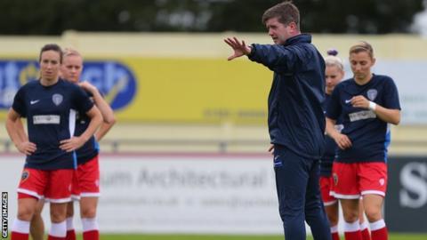Dave Edmondson trains Bristol Academy players