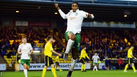 Hibernian striker Dominique Malonga