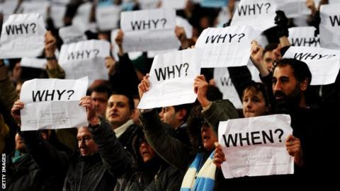 Coventry City fans protest against the club's move away from their Ricoh Arena home last season