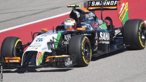 Sergio Perez in a Force India