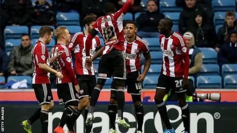 Brentford celebrate their opener