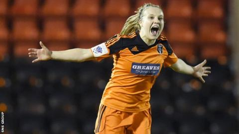 Fiona Brown was on target for Glasgow City in Switzerland
