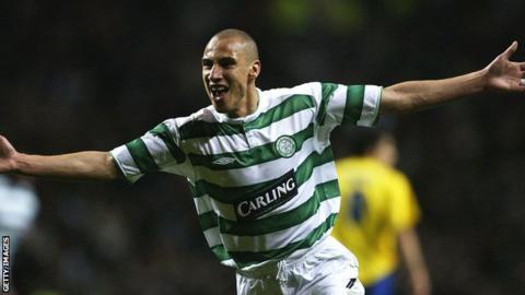 Henrik Larsson during his Celtic career