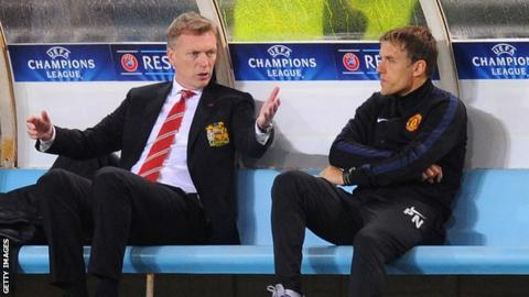David Moyes and Phil Neville
