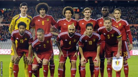 Belgium team that played Iceland