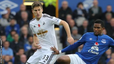 Defender Federico Fernandez has played 10 games for Swansea City this season