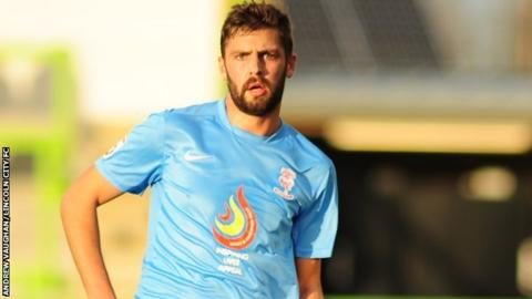 Lincoln City midfielder Karl Ledsham