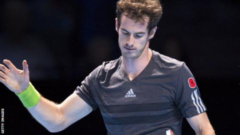 Andy Murray loses to Roger Federer at ATP World Tour Finals