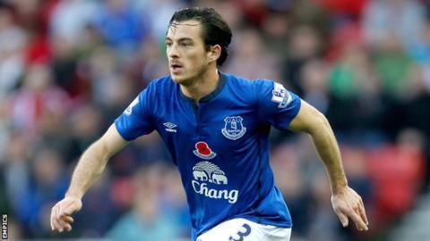 Everton full-back Leighton Baines