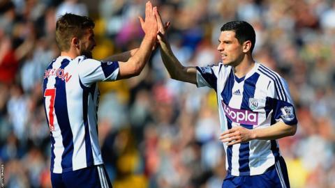 West Bromwich Albion midfielders James Morrison and Graham Dorrans