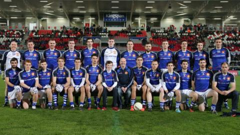Former Antrim player Anto Finnegan pictured with the Ulster Select team who played Dublin at Kingspan Stadium