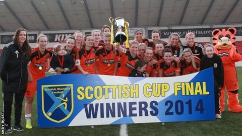 Glasgow City lift the Scottish Cup