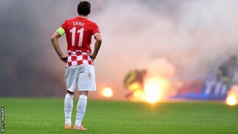 Croatia's Darijo Srna