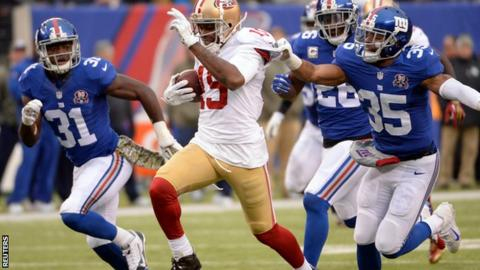 San Francisco 49ers and New York Giants