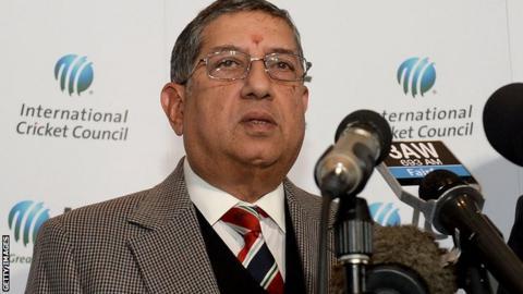 Narayanaswami Srinivasan, ICC chairman