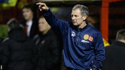 Motherwell caretaker manager Kenny Black