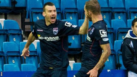 Paul Quinn scored in Ross County's impressive 3-0 league win over Kilmarnock