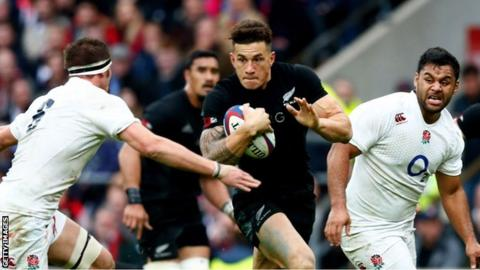Sonny Bill Williams in action against England