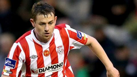 Danny Ventre in action for Derry City