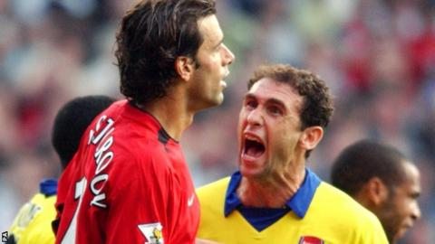 Martin Keown and Ruud van Nistelrooy