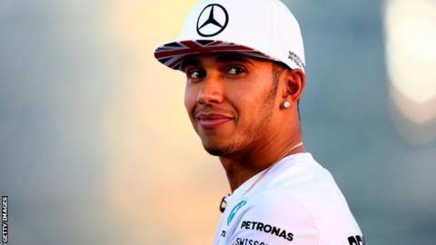 Lewis Hamilton at the Abu Dhabi Grand Prix