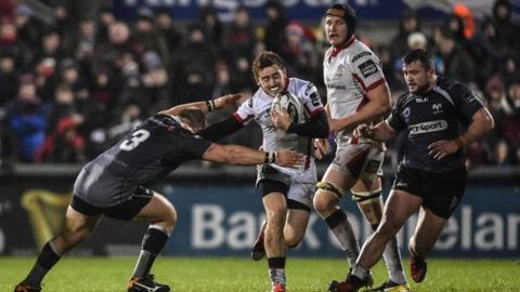 Ulster's Paddy Jackson in action against the Ospreys