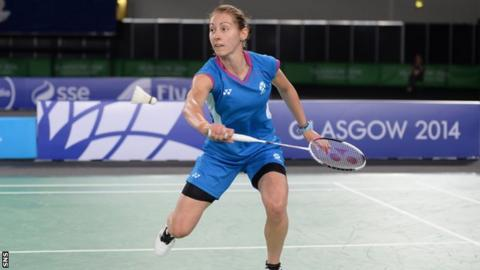 Kirsty Gilmour made it to both the singles and women's doubles semi-finals.