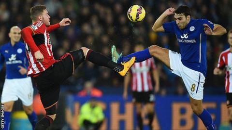 Leicester v Sunderland, Matty James and Connor Wickham