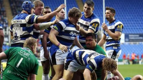 Bath forced a penalty try from Irish that pushed them toward a 33-23 victory