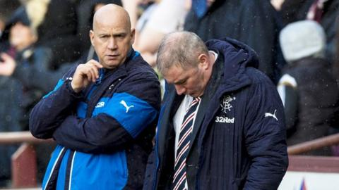 Ally McCoist (right) is under pressure from irate Rangers supporters.