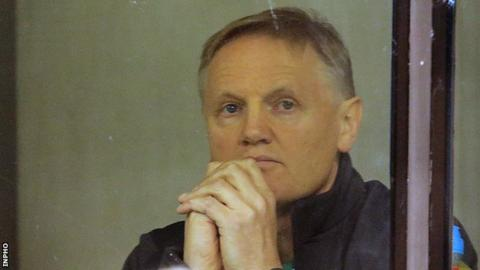 Ireland coach Joe Schmidt watches his team's win over Australia