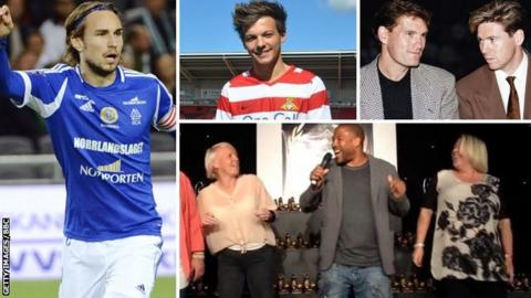 Kevin Walker, Louis Tomlinson, Glenn Hoddle and Chris Waddle and John Barnes