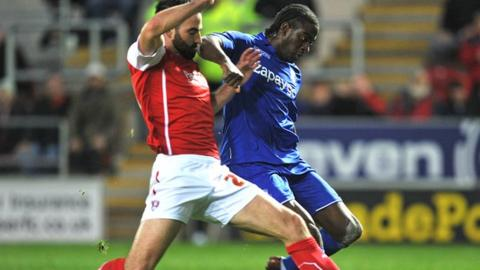 Birmingham City striker Clayton Donaldson scores his sixth goal of the season in the 1-0 win at Rotherham