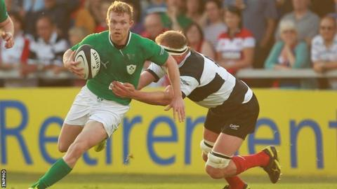 Keith Earls faced Munster team-mate Mick O'Driscoll when Ireland played the Barbarians in May 2012
