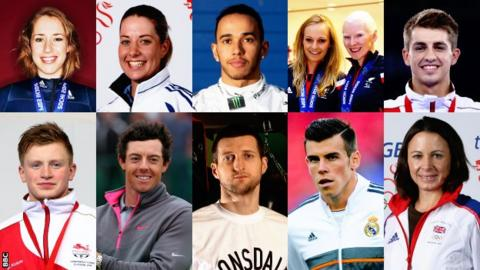 BBC Sports Personality contenders: Lizzy Yarnold, Charlotte Dujardin, Lewis Hamilton, Kelly Gallagher and Charlotte Evans, Max Whitlock, Adam Peaty, Rory McIlroy, Carl Froch, Gareth Bale, Jo Pavey