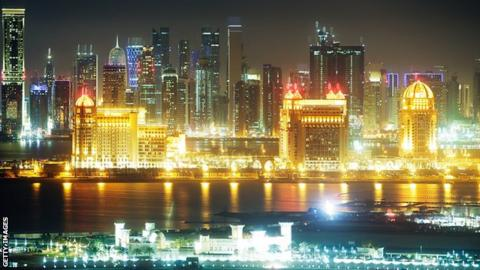 The Qatar skyline