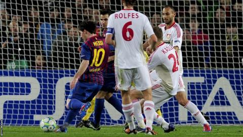 Lionel Messi v Leverkusen 2012