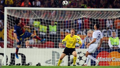 Lionel Messi v Manchester United, 2009