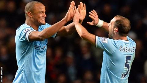 Vincent Kompany and Pablo Zabaleta