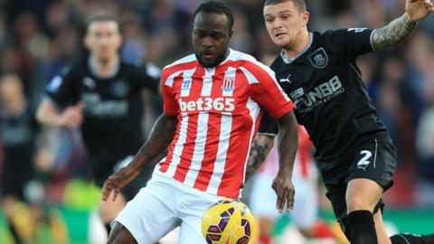 Summer signing Victor Moses has scored just once in 12 appearances for Stoke this season
