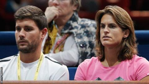 Daniel Valverdu (left) and Amelie Mauresmo (right)