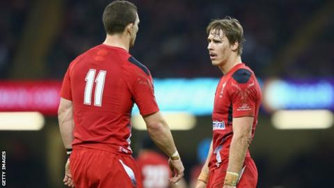George North and Liam Williams