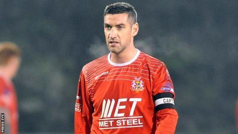 Portadown skipper Keith O'Hara is back after suspension
