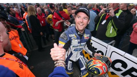 Alastair Seeley secured a double on Thursday race night at the North West 200 by winning the Supersport and Superstock races