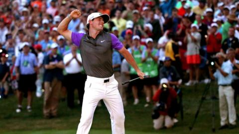World number one Rory McIlroy won his second USPGA Championship at Valhalla